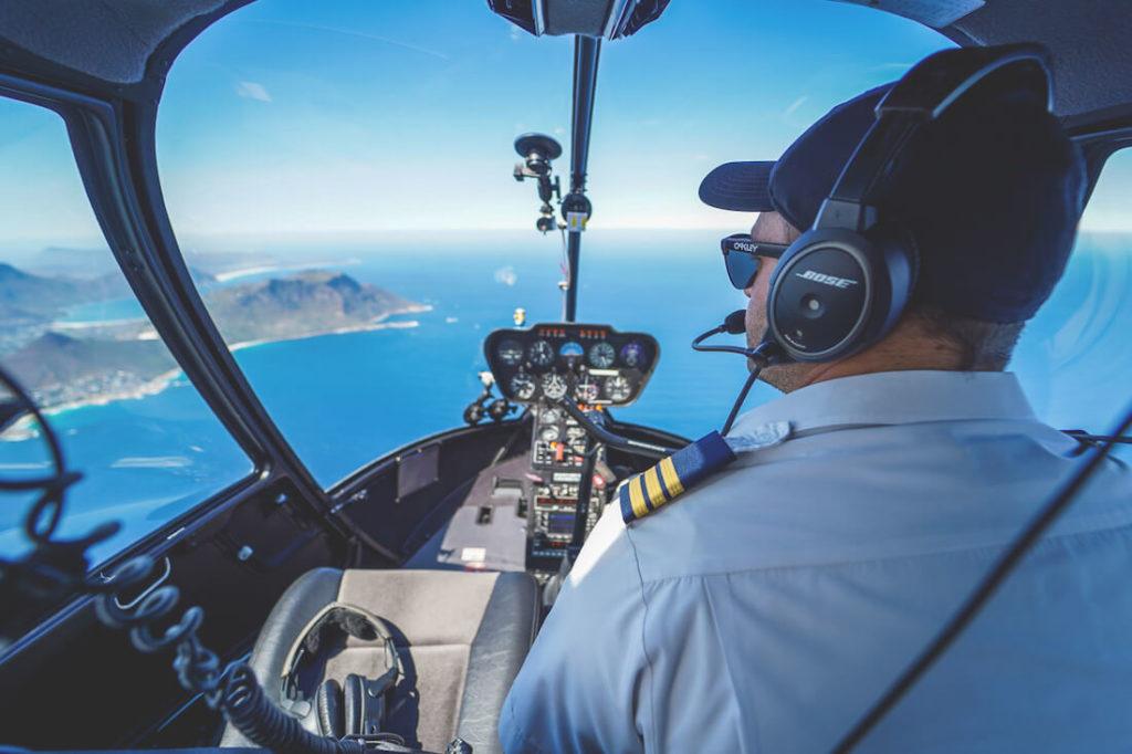 Helikopter Rundflug über Kapstadt Pilot und Aussicht