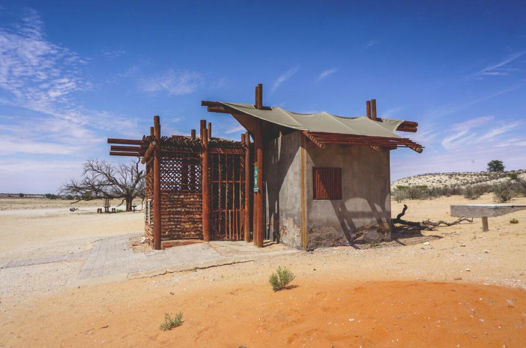 Kgalagadi-Transfrontier-National-Park-Namqua-Parkplatz-Toilette