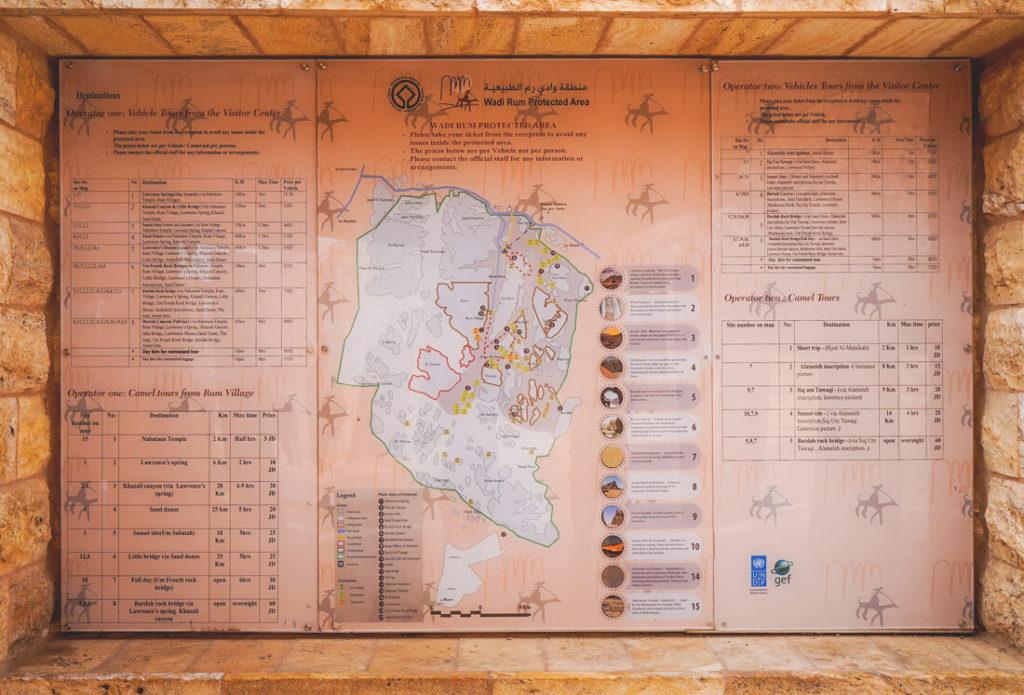 Wadi-Rum-Jordanien-Visitor-Center-Karte