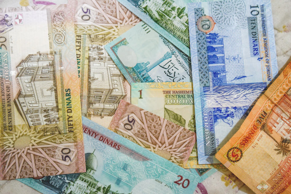 Währung Jordanien Geldscheine