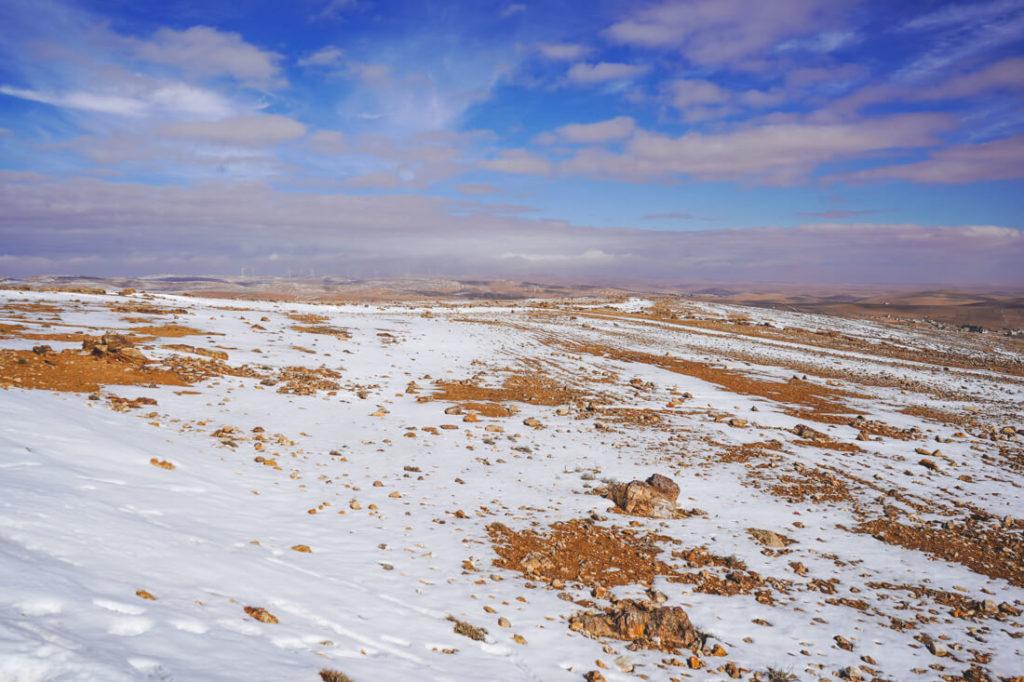beste-reisezeit-jordanien-rundreise-schnee