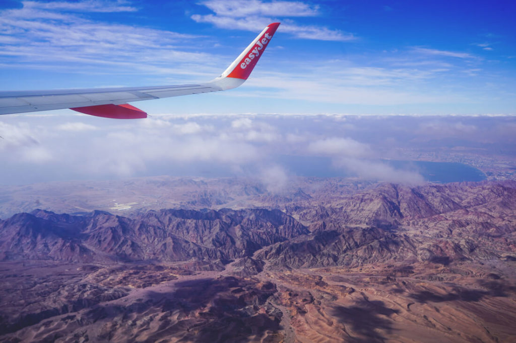 jordanien-rundreise-anreise-flugzeug-aussicht