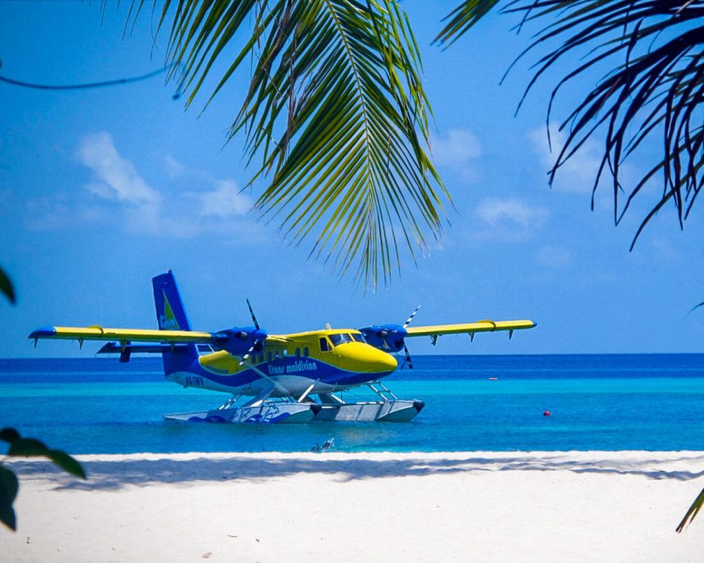 Malediven-Urlaub-Wasserflugzeug-Anreise