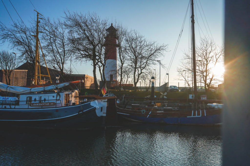 Museumshafen-Buesum-Nordsee-Sonnenuntergang