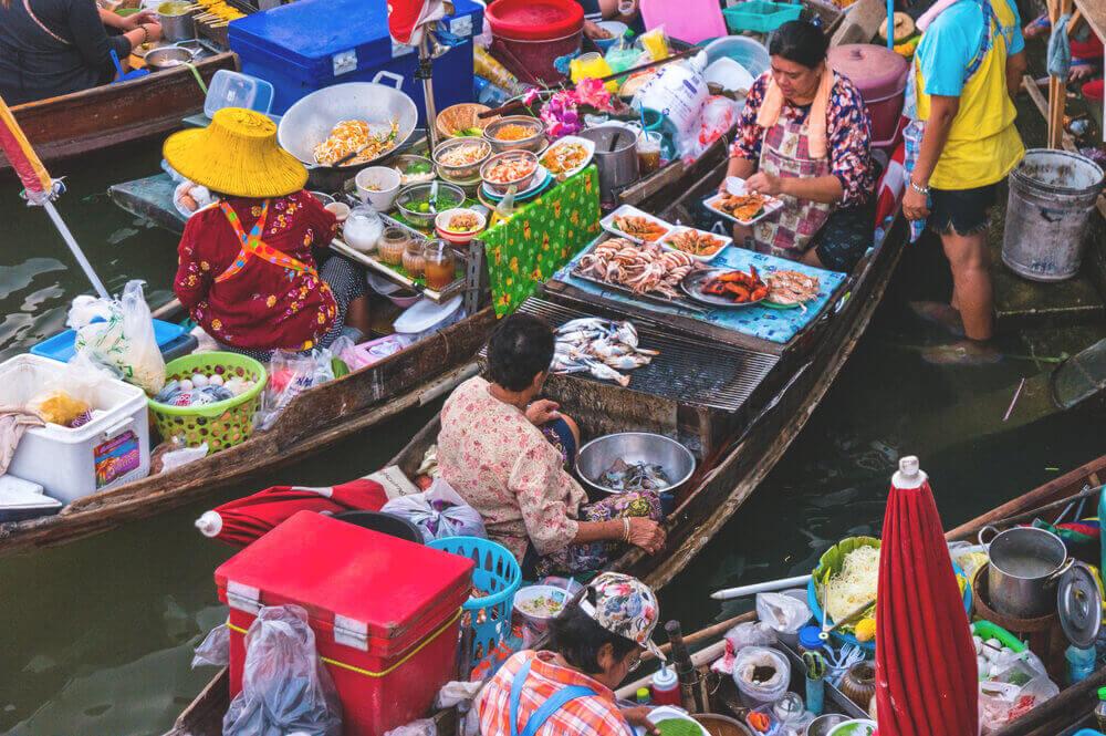 Thailand Sehenswürdigkeiten Amphawa Floating Market