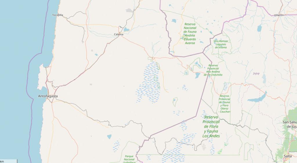 Atacama-Wueste-Chile-Suedamerika-Karte