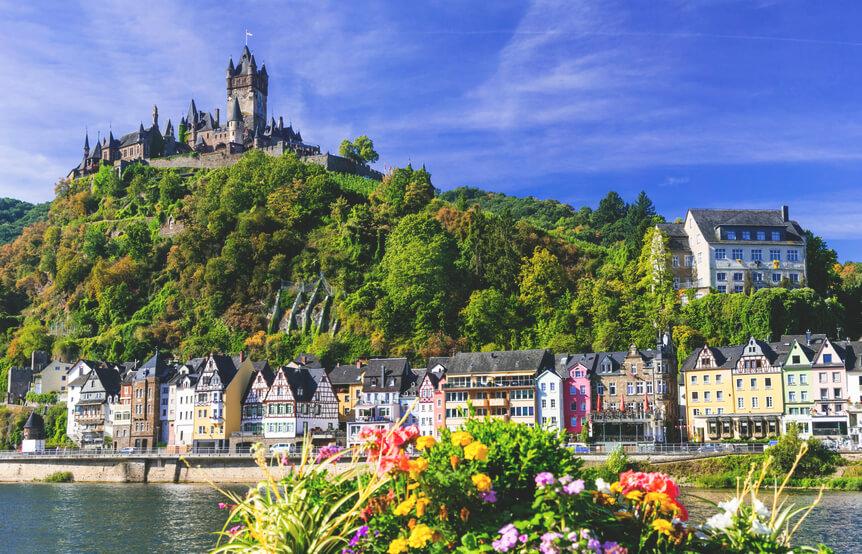 Deutschland-Urlaub-Cochem-Mosel-Burg