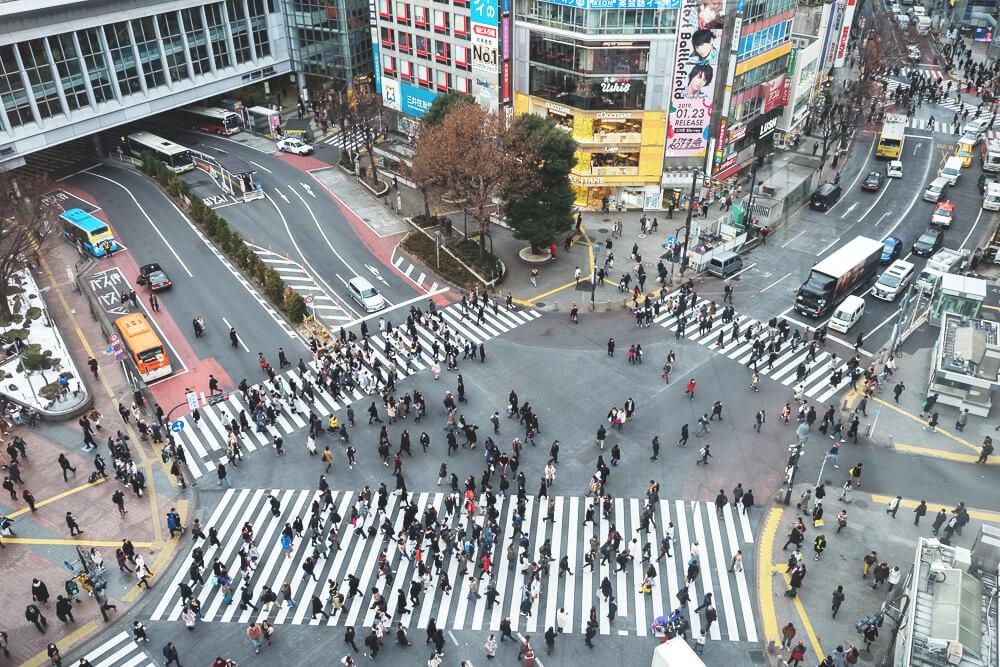 Shibuya-Kreuzung-Tokio-Japan-Rundreise
