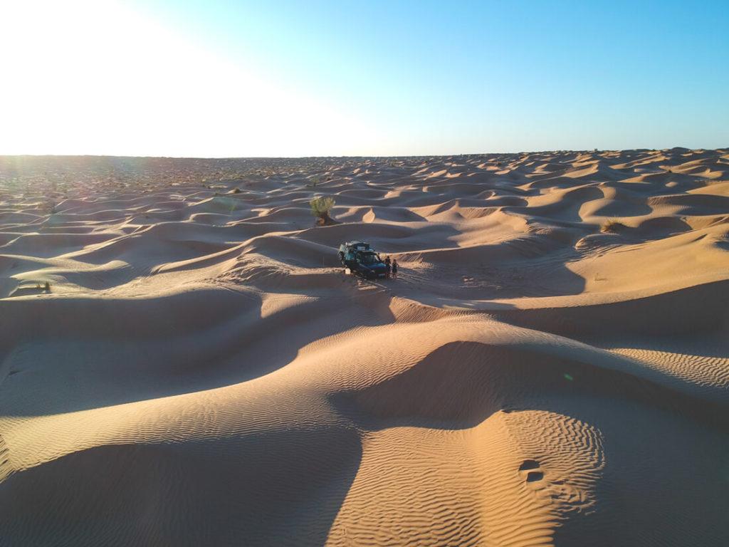 Tunesien-Rundreise-Camping-Dachzelt-Wueste-Douz