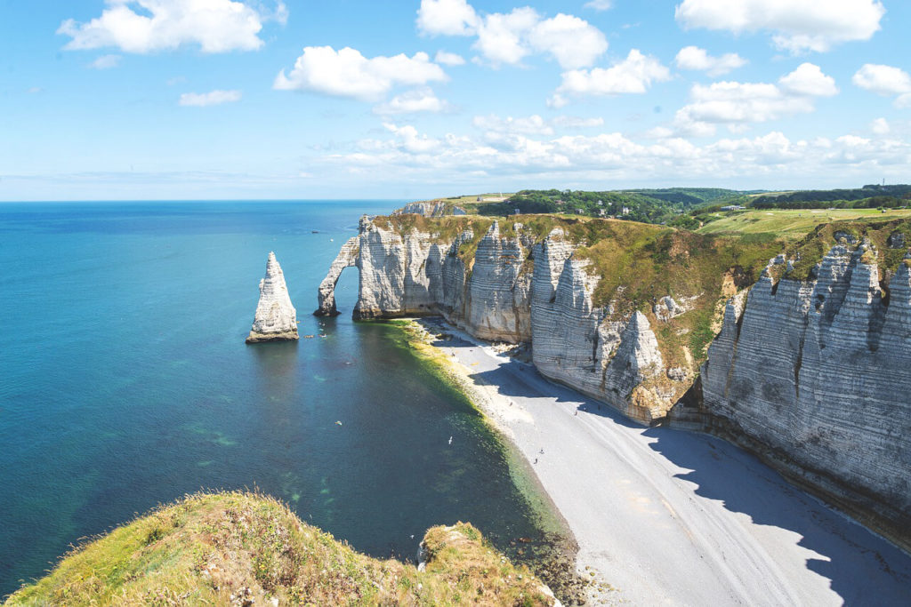 Nordfrankreich-Normandie-Etretat-Kueste-Klippen
