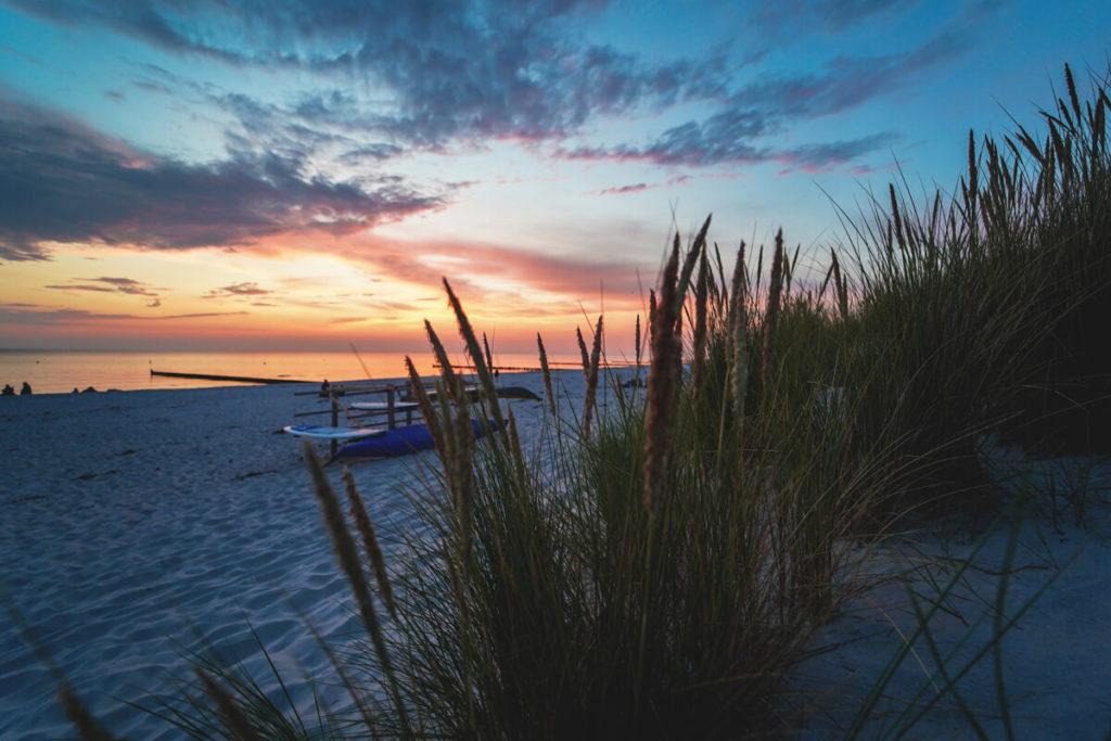 Sonnenuntergang-Ostsee-Insel-Hiddensee