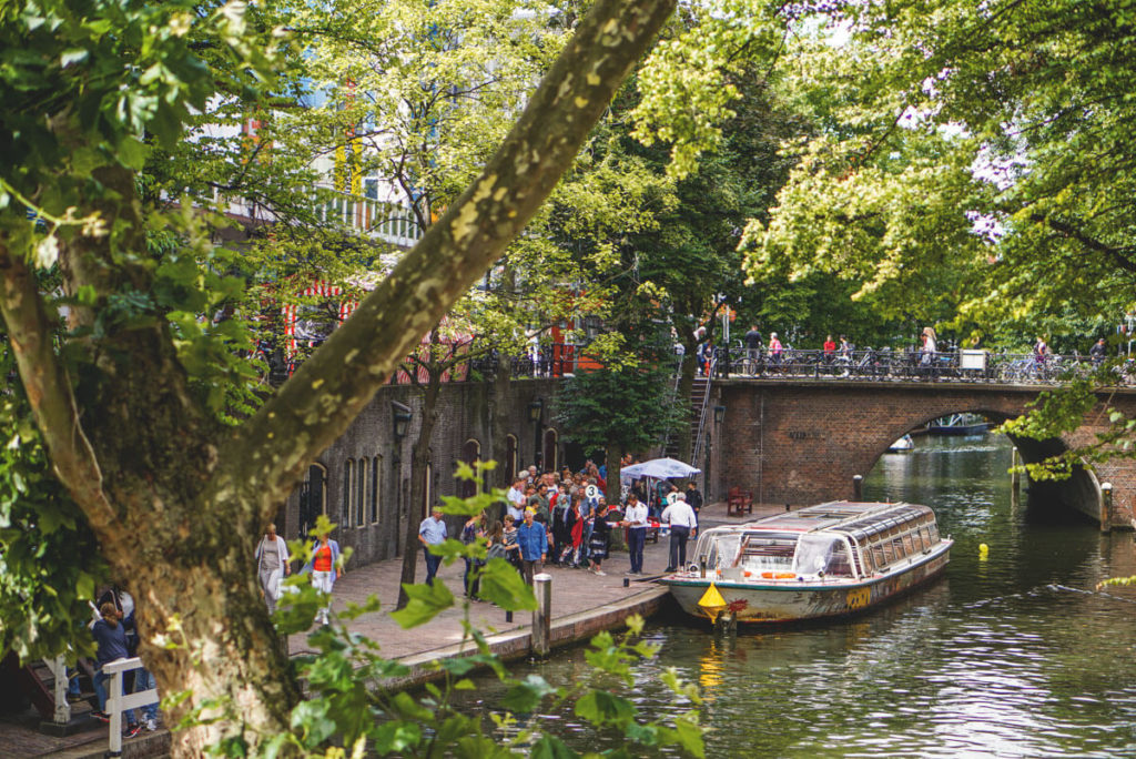 Bootsfahrt-Grachten-Utrecht-Niederlande