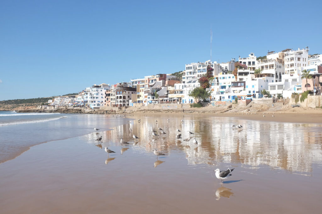 Marokko-Route-Taghazout-Strand