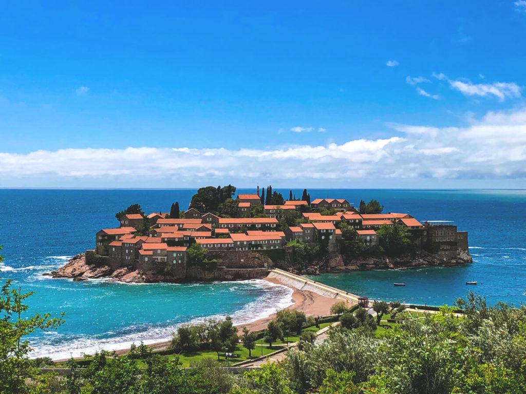 Sehenswürdigkeiten in Montenegro Sveti Stefan Insel