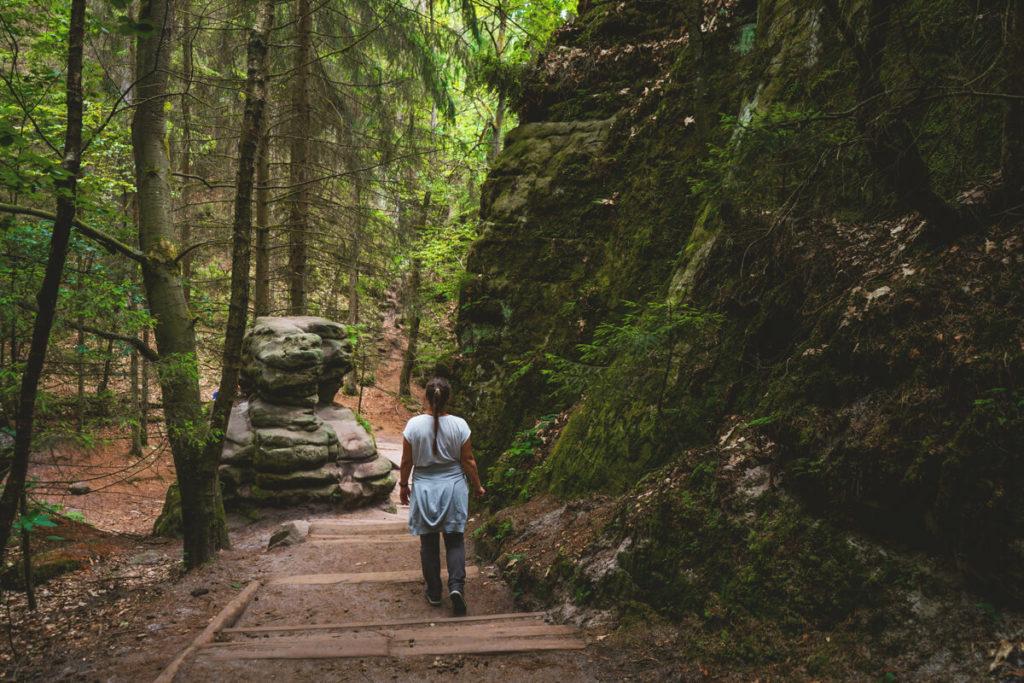 Schwedenlöcher Wanderung Stufen