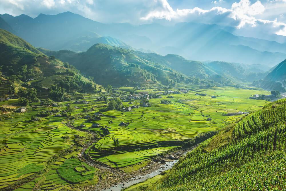 Vietnam Sehenswürdigkeiten Reiseterrassen Sapa