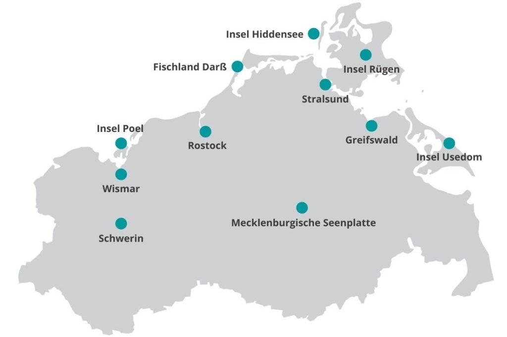 Mecklenburg Vorpommern Reiseblog Karte