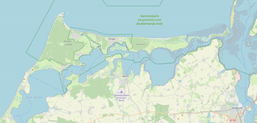 Fischland-Darss-Zingst-Karte
