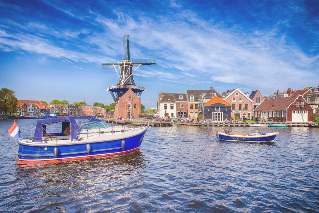 Haarlem Niederlande Molen de Adriaan Mühle