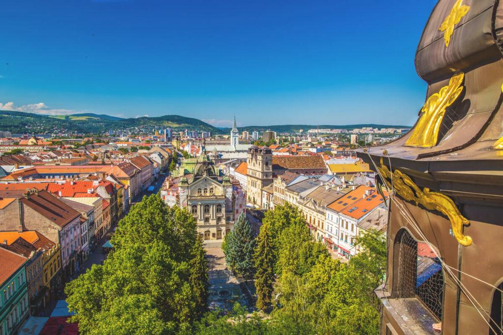 Kosice Sehenswürdigkeiten Aussicht Turm Dom Heilige Elisabeth
