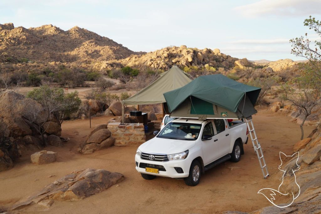 Namibia Highlights Dachzelt Campsite Rundreise