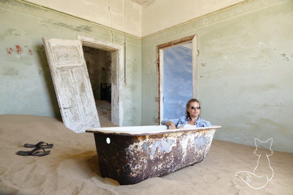 Namibia Sehenswürdigkeiten Geisterstadt Kolmanskop Badewanne