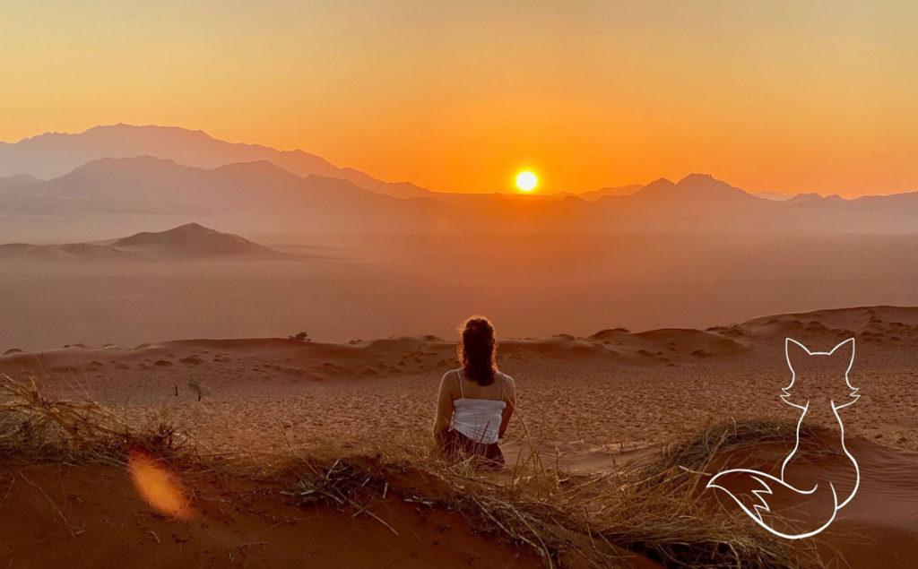 Namibia Highlights Wüste Sonnenuntergang