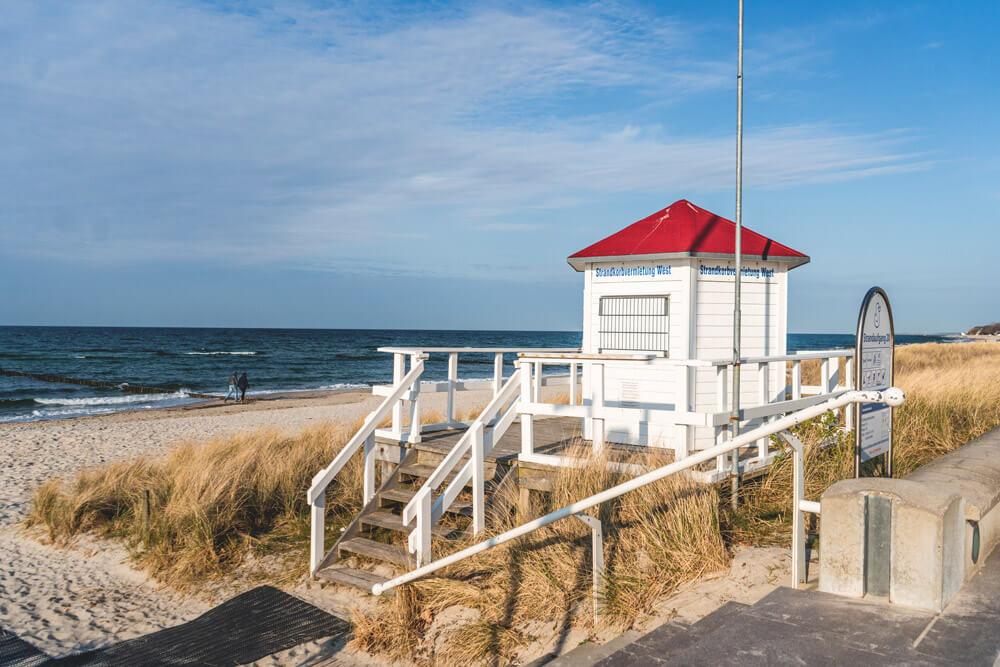 Ostseebad Kuehlungsborn Strandpromenade Ostseeküstenradweg