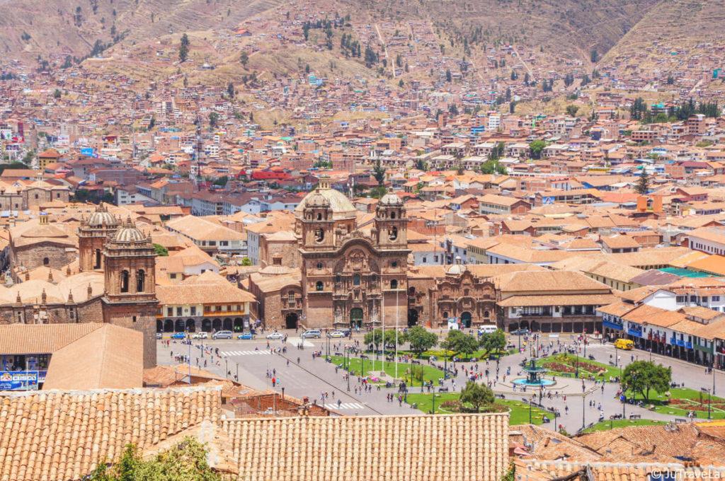 Peru Cusco Aussicht Sacsayhuman