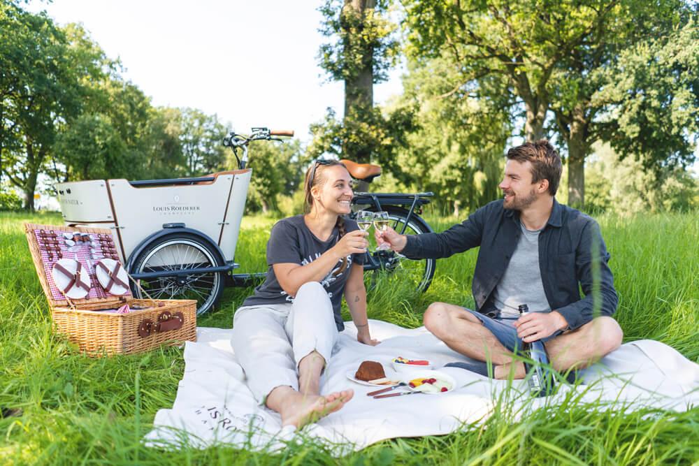 Louis-Roederer-Fahrrad-Picknick