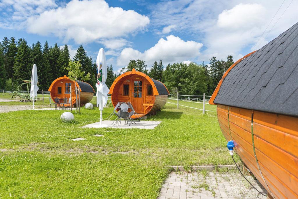 Bio-Bauernhof Gerspach Südschwarzwald Campingfass
