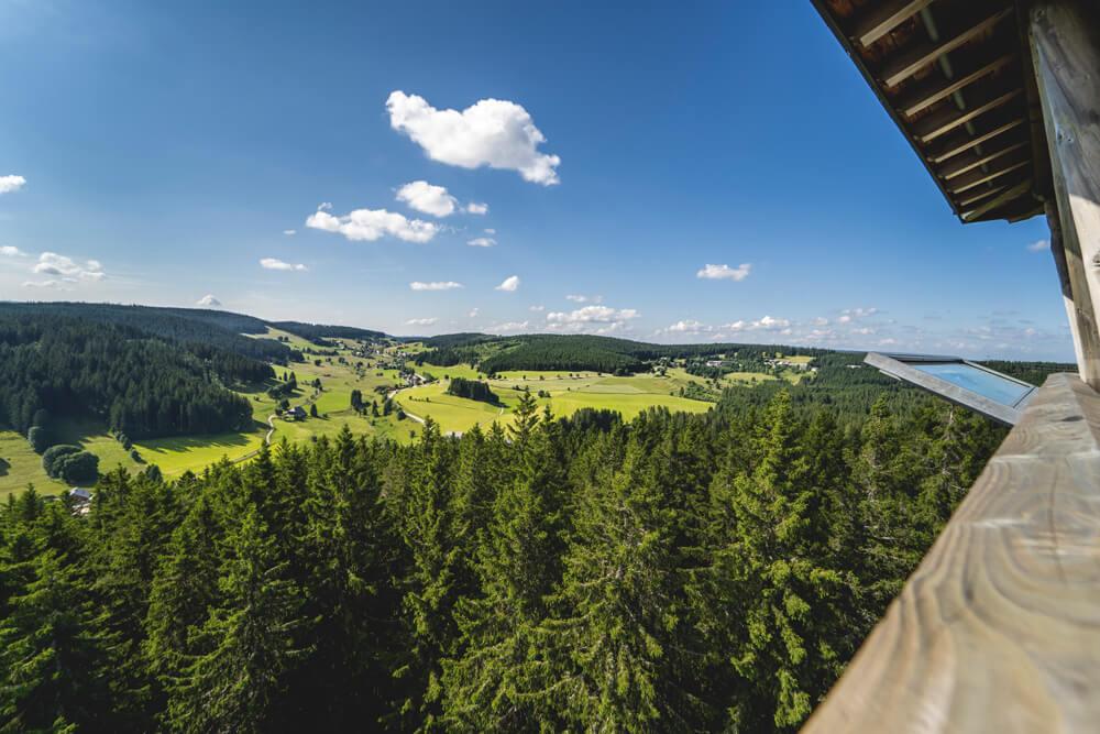 Suedschwarzwald-Schluchsee-Aussicht-Riesenbuehlturm