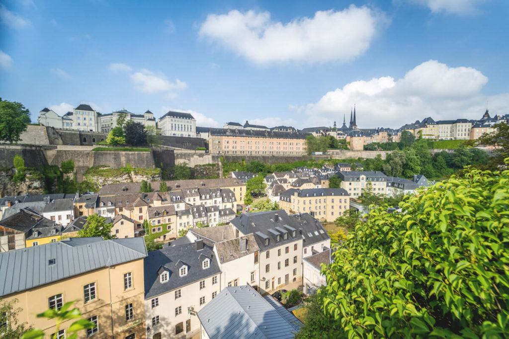 Aussicht Luxemburg Sehenswürdigkeiten Unterstadt Grund