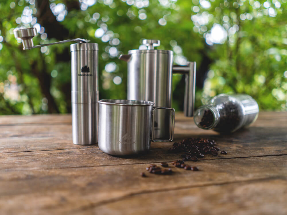 Camping-Equipment-Kaffeemuehle-French-Press